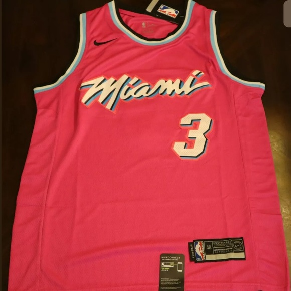 New Miami Heat Nba Jersey Mesh Fabric Shower Curtain